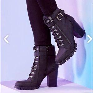 Black booties size US 7